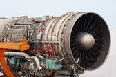 Aircraft jet engine detail — Stock Photo