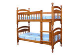 Wooden two-storeyed bed — Stock Photo