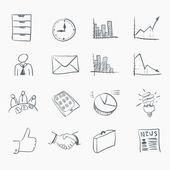 Conjunto de iconos de la etiqueta engomada — Vector de stock