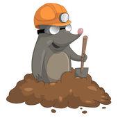 Cartoon Character Mole — Stock Vector