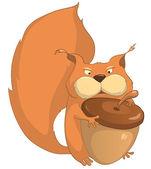 Cartoon Character Squirrel — Stockvektor