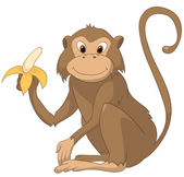 Cartoon Character Monkey — Stock Vector