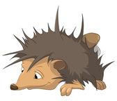 Cartoon Character Hedgehog — Stock Vector