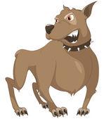 Cartoon Character Sly Dog — Stock Vector