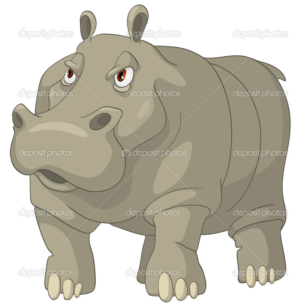 Cartoon character hippopotamus — stock vector