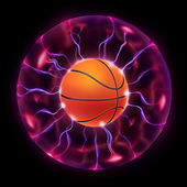 Basketball Ball Wheel — Stock Photo