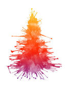 Watercolor Xmas Tree — Stock Photo