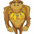 Cartoon Character Monkey - Imagen vectorial