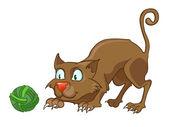 Cartoon Character Cat — Stock Vector