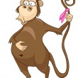 Cartoon Character Monkey - Stock Vector