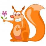 Cartoon Character Squirrel — Stock Vector #7624875