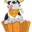 Cartoon Character Cow — Stock Vector