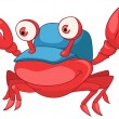 Cartoon Character Crab - Image vectorielle