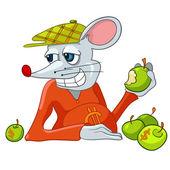 Cartoon Character Rat — Stock Vector