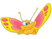 Cartoon Character Butterfly — Stock Vector
