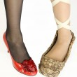 Old and New Women's Shoes 2 — Stock Photo