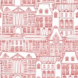 Royalty-Free Stock Vector Image: Historic houses seamless pattern