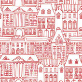 Historic houses seamless pattern — Stock Vector