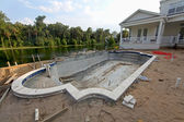 Pool Construction — Stock Photo