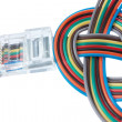 Multi color network cable — Stock Photo