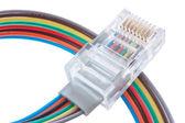 Multi color network cable — Stock Photo