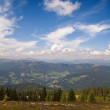 Austrian Alps with clouds near Ossiach - Stock Photo