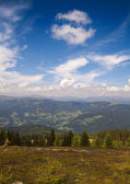 Austrian Alps with clouds near Ossiach — Stock Photo