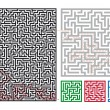 Vector mazes - Stock Vector