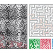 Vector mazes — Stock Vector