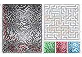 Vector mazes — Stock Vector