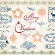 Christmas frames and borders, vector — Vettoriali Stock