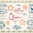Cтоковый вектор: Christmas frames and borders, vector