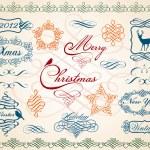 Vánoční rámečky a hranice, vektorové — Stock vektor