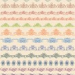 Vintage border, vector set - Stock Vector