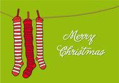 Christmas socks, vector — Stock Vector