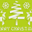 Origami christmas background, vector - Stok Vektr