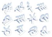 Zodiac signs, vector — Stock Vector