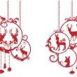 dekorace vánoční jelen, vektor — Stock vektor