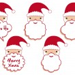Royalty-Free Stock Immagine Vettoriale: Santa beard frames, vector