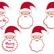 Royalty-Free Stock Imagen vectorial: Santa beard frames, vector