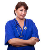 Pretty woman doctor — Stock Photo