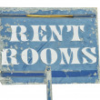 Stock Photo: RENT ROOMS Sign