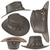 Set of brown cowboy hat — Stock Photo