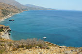 Preveli beach and lagoon — Stock Photo