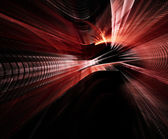 Red on black abstract element — Stock Photo
