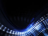 Abstract blue element over black background — Stock Photo