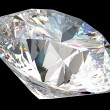 Round diamond: top side view isolated - Stockfoto