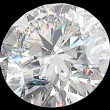 Close-up of large round diamond or gemstone isolated - Stock Photo