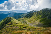 Mountains: Carpathians on the border of Ukraine and Romania — Stock Photo