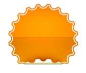 Orange spotted hamous sticker or label — Stock Photo